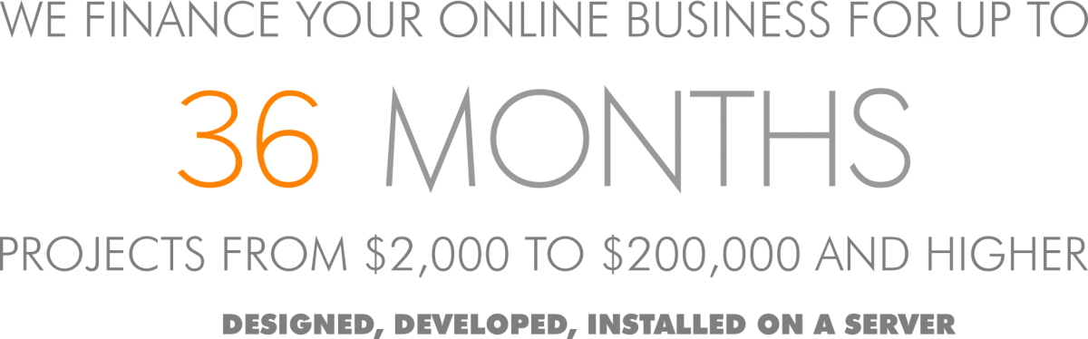 Finance your online business for up to 36 months - WordPress, Drupal or any other CMS of your choice.